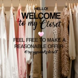 Welcome to my closet and thank you for stopping by